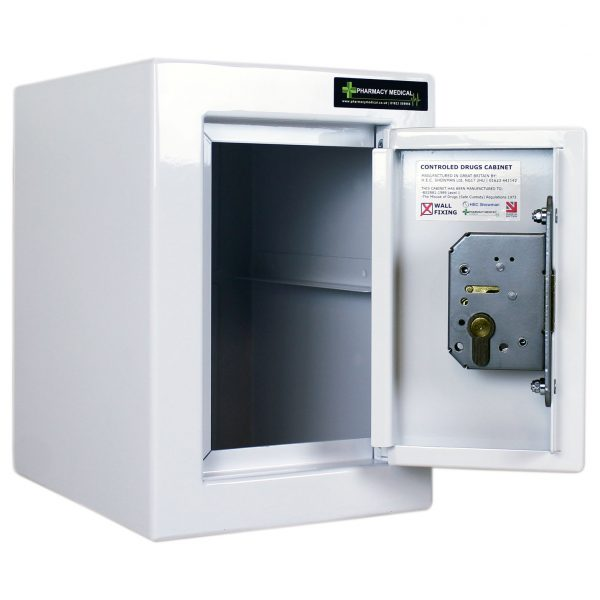 CDC001 Controlled drugs cabinet with door open no shelf