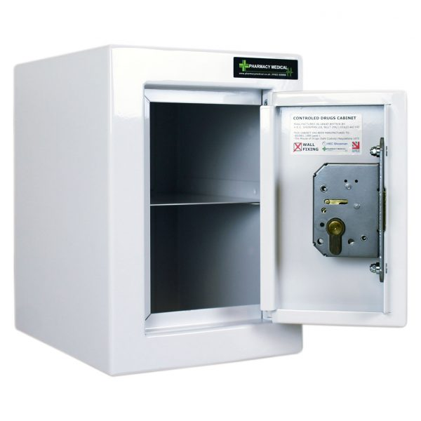 CDC001 Controlled drugs cabinet with door open showing the internal shelf