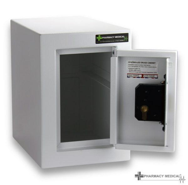 CDC001 Controlled drugs cabinet open with no shelf