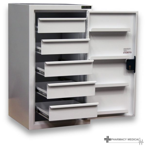 CDC106 Controlled Drugs Cabinet open fully