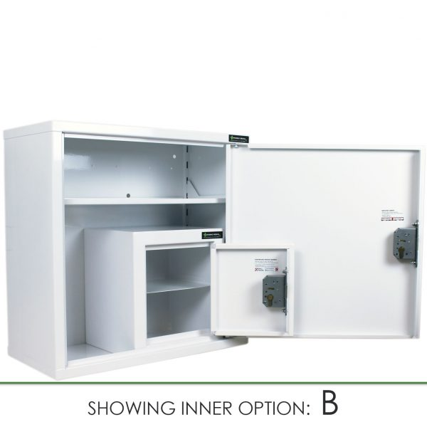 CMED200 medicine cabinet with internal controlled drugs cabinet option B