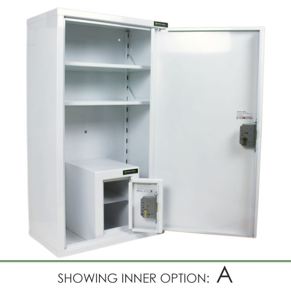 CMED350 medicine cabinet with internal controlled drugs cabinet A