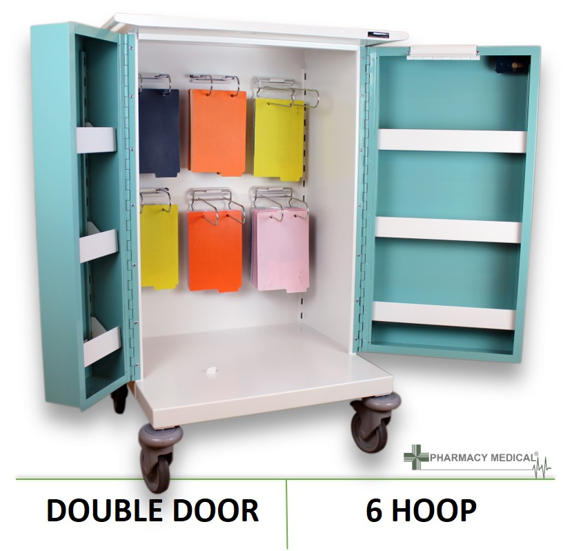 Monitored Dosage (MDS) 6 Hoop Drugs Trolley | PM210  sc 1 st  Controlled Drugs Cabinets & Monitored Dosage Drugs Trolley | 6 Hoop MDS Drugs Trolley