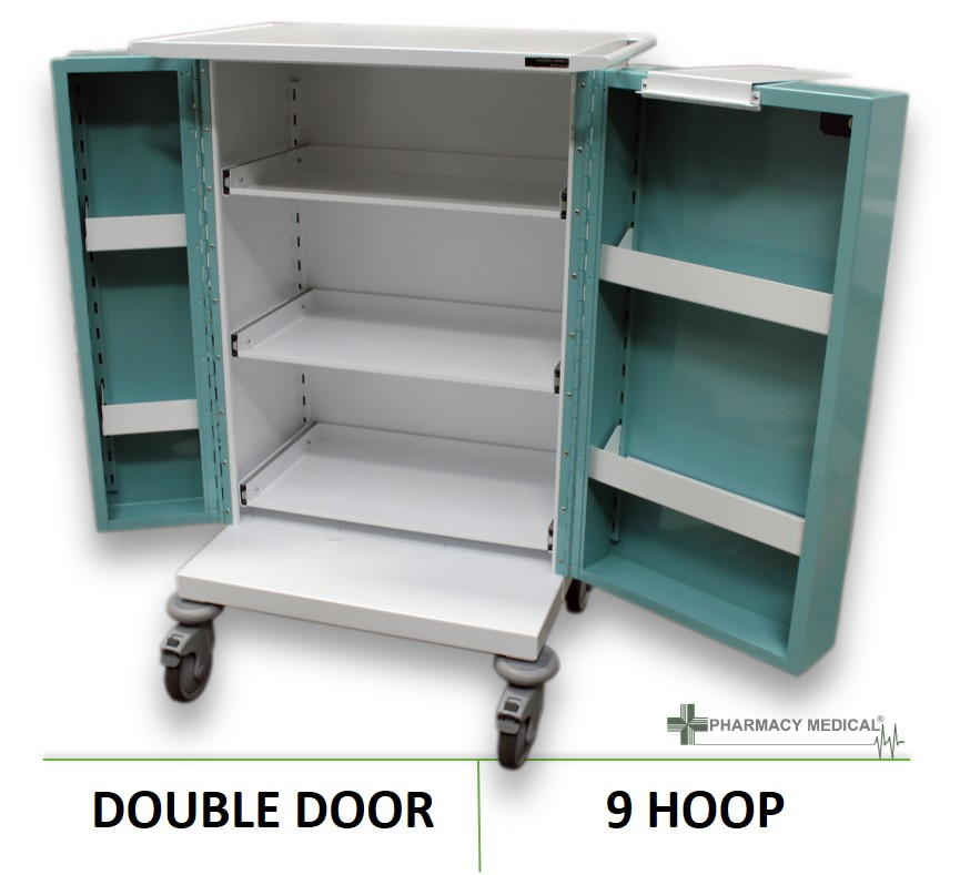 Monitored Dosage (MDS) 9 Hoop Drugs Trolley | PM230  sc 1 st  Controlled Drugs Cabinets & Monitored Dosage (MDS) Trolley | 9 Hoop MDS Drugs Trolley