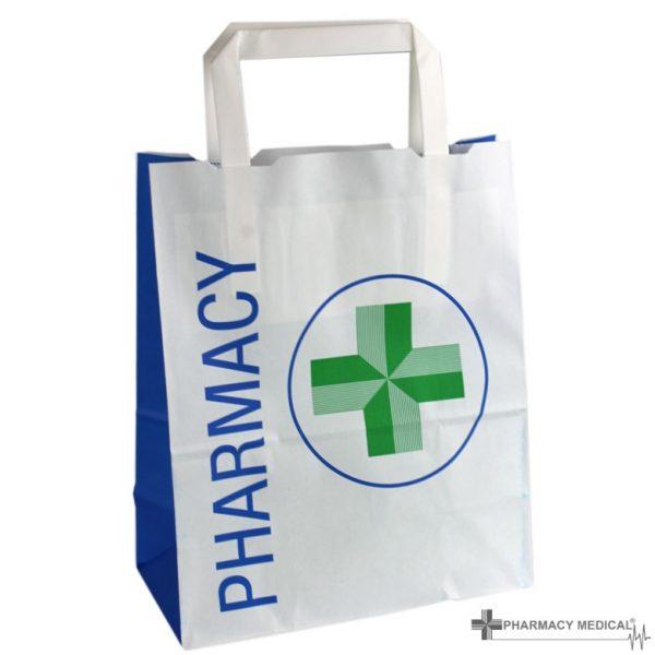 block bottom pharmacy counter bag