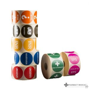 Prescription Alert Sticker Rolls