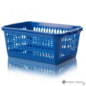 blue dispensing baskets
