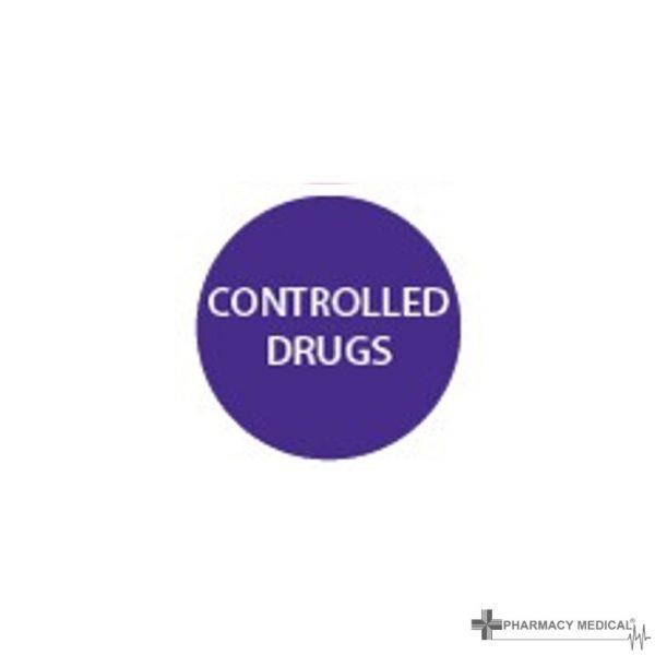 controlled drugs prescription alert sticker