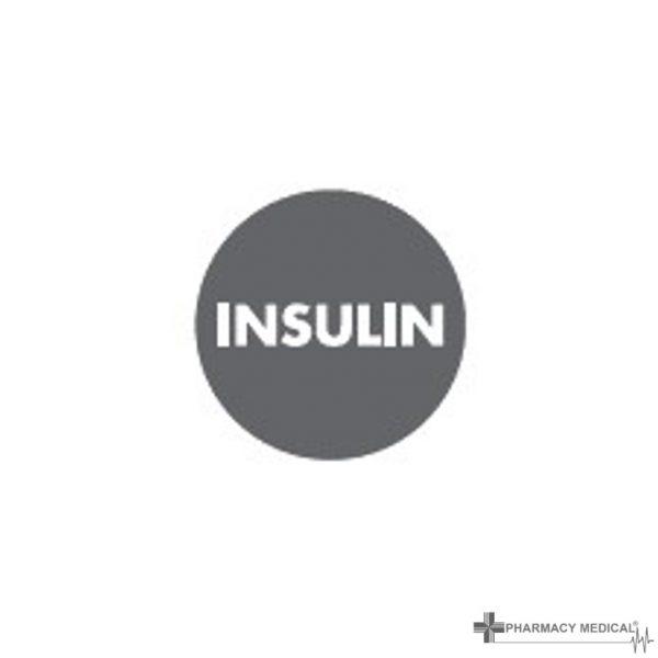 insulin prescription alert sticker