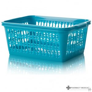 teal dispensing baskets