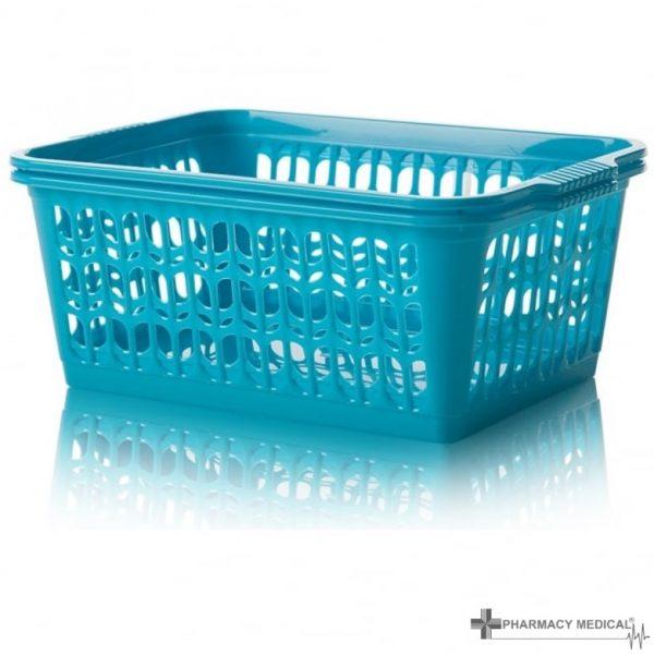 teal dispensing baskets