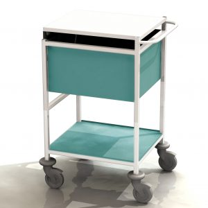 small medical records trolley