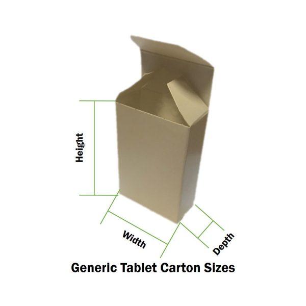 Tablet Carton Size