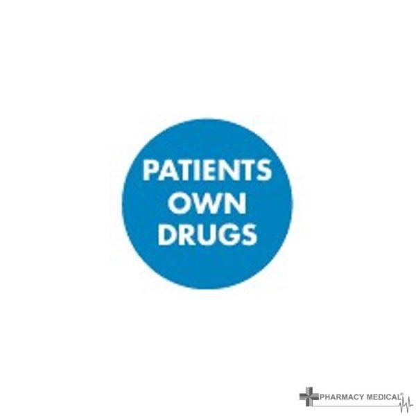 patients own drugs prescription alert stickers
