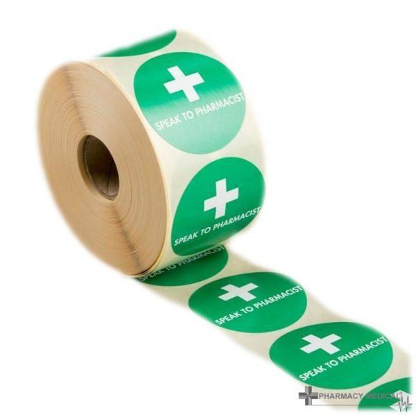 speak to pharmacist prescription alert stickers