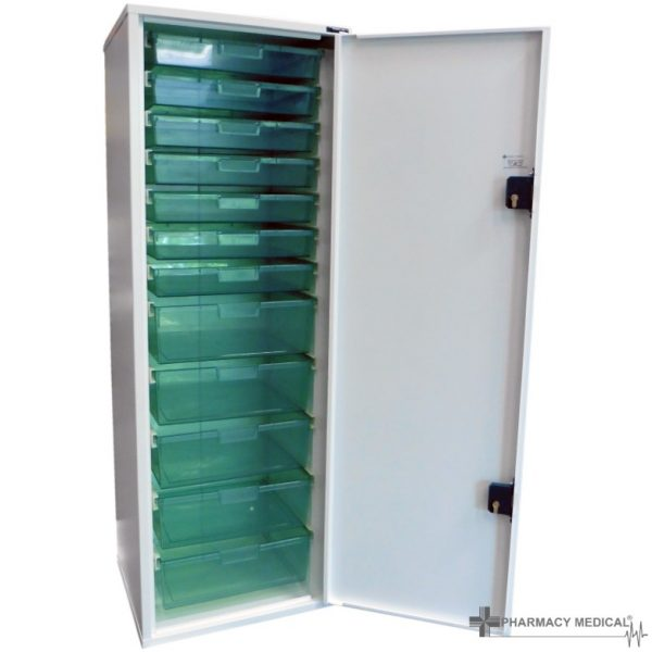 tower unit with plastic trays