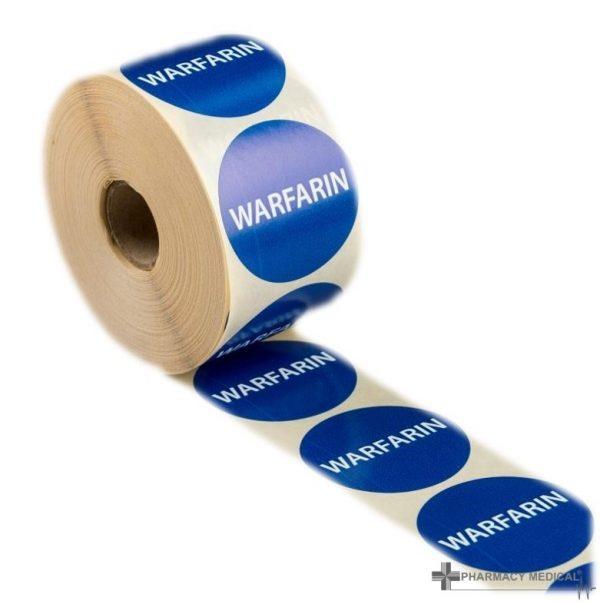 warfarin prescription alert stickers