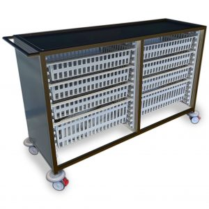 Stainless steel Double HTM71 Trolley