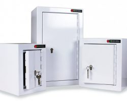 Controlled drugs cabinets with warning lights